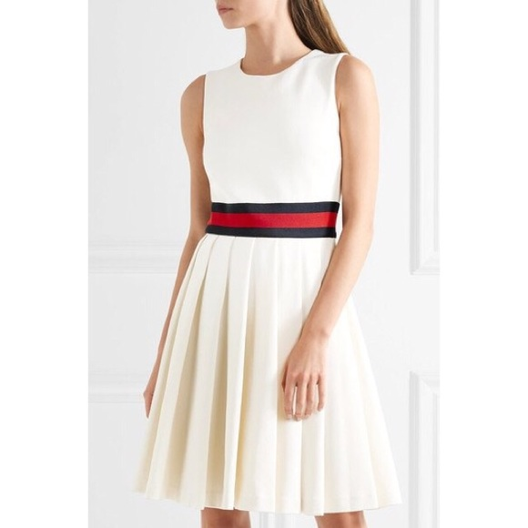 fede22775ed Gucci Off White Pleated Jersey Dress